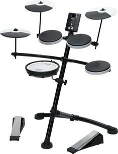 Roland V-Drums Electronic Drum Kit - With its easy playability, Coach function and 15 onboard sounds, this is the perfect e-drum kit for beginners or those making the switch to electronic kits. Roland V Drums, Electric Drum Set, Acoustic Drum, Music Software, Drum Heads, Drum Lessons, Piano Lessons, Audio Songs, Drum