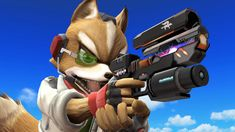 Fox pulls out his Blaster
