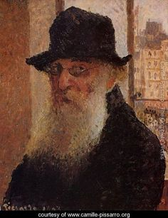 Camille Pissarro. (Self-Portrait)   I love being able to see the face of the great artists