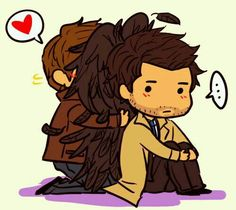 Cas's wings and dean