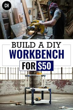 Building a DIY workbench is a great project to kickoff setting up your workshop. The advantage to building your own workbench is cost savings, knowing how strong it is, and being able to customize and repair it yourself. Building A Workbench, Diy Workbench, Woodworking Projects, Diy Projects, Cost Saving, Learning Process, Garage Workshop, Home Improvement Projects, A Team