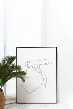 Erotic line art ass print naked woman butt one line art Line Drawing, Drawing Sketches, Art Drawings, Diy Painting, Diy Art, Art Inspo, Home Art, Art Projects, Canvas Art