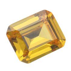 Sale 24% (2.66$) - 8x10mm Yellow Gemstones Artificial Zircon Jewelry DIY Making Loose Crystal