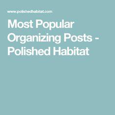 Most Popular Organizing Posts - Polished Habitat