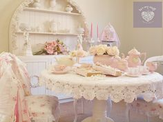 romantic shabby chic, everything in this picture I have created from the paint to the furniture to all the pretties <3 creating from the heart<3 <3
