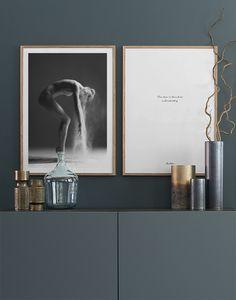 Stijlvolle poster met fotokunst