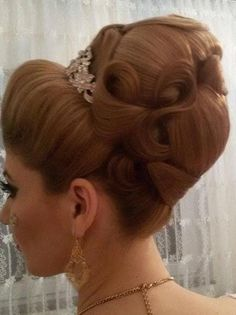 chignon large meche superposee