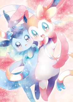 Vaporeon & Sylveon by ks_lemon ... vaporeon, sylveon, pokemon