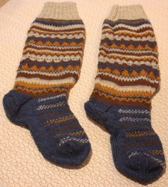 Handknitted wool stockings, Socks, Knee socks, Woolsocks by Craftfolly on Etsy