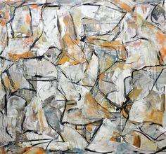 """Hairy Autumn,"" abstract painting by artist Matthew Dibble (USA) available at Saatchi Art. Go inside Matthew's studio: http://magazine.saatchiart.com/articles/artnews/saatchi-art-news/inside-the-studio-saatchi-art-news/matthew-dibble"