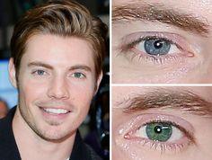 Josh Henderson, heterochromia - his eyes are beautiful