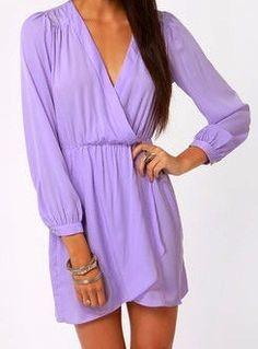 Lavender wrap dress!