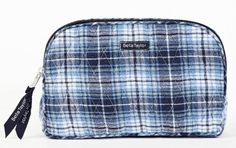 Bella Taylor True Blue Quilted Cotton Make Up Pouch Victorian Heart Co., Inc.. $16.95
