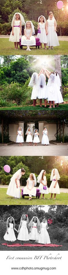 1st communion First Communion Photograph BFF's together ideas.