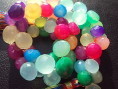 BEST SELLER Hot Rainbow Bright CHALCEDONY by amandalynnesupplies, $13.99