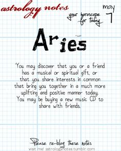 Hey Aries, follow us for horoscopes every day!