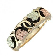 Black Hills Gold Antiqued Wedding Ring - MyBlackHillsGold.com