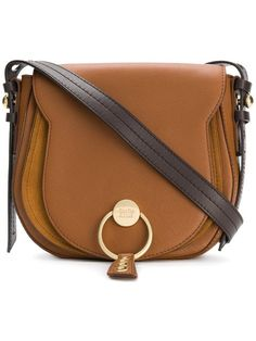 Shop See By Chloé logo front saddle bag. Chloe Logo 4b0fa95d36a