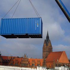 Wenn die Container fliegen...