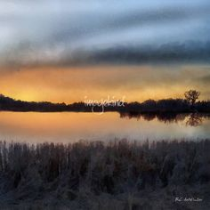 """""""Sunrise on a Frosty Marsh"""" - © 2017 RC deWinter Both the sky and the Mississippi River glow in the early light of an almost-spring sunrise in Redwing, Minnesota. Available as wall art in a wide variety of media, sizes and configurations."""