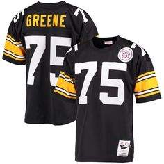 Joe Greene Pittsburgh Steelers Mitchell & Ness Authentic Throwback Jersey – Black