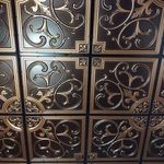 204 Faux Tin Ceiling Tile for a grid system can be simply dropped into your suspended ceiling. Antique Finishes available.
