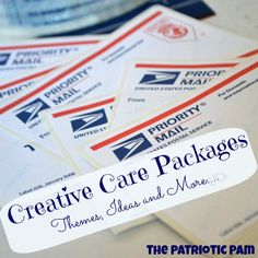 Creative Care Packages - Lots of ideas and themes to make sending a package a lot more fun!