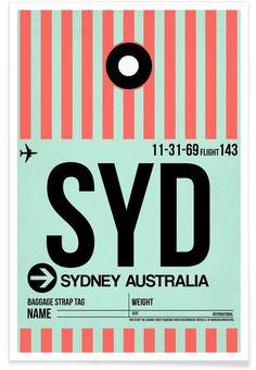 SYD-Sydney als Premium Poster von Naxart | JUNIQE