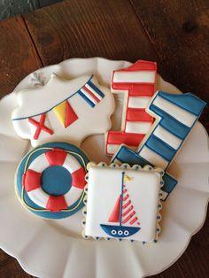 Nautical Birthday Cookies