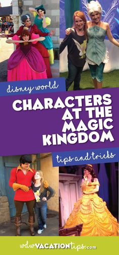 Here are the Disney characters at the Magic Kingdom in Walt Disney World. Of course, it's always best to pick up a times guide or check the My Disney Experience App to see their exact meet and greet times.