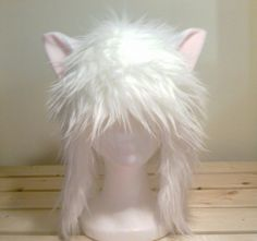 InuYasha, inuyasha cosplay, cat ear hat, cat ears, inuyasha anime, winter hat, christmas gift, aviator cat by qwear01