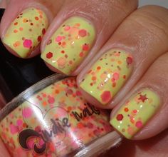 """Jindie Nails """"Princess Consuela Bananahammock."""" Worth it just for the name but it's cute too!"""