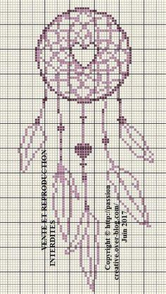 Free cross stitch: Dream catcher - Creative Passion--DMC #'s 3836/3834