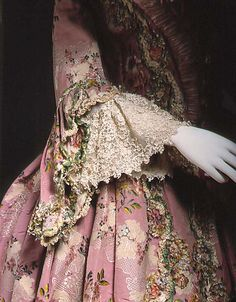 Detail, Dress (Robe à la Française), French, 1756-75