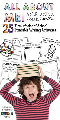 The first day of school and the weeks that follow are such are fun and exciting time. These All About Me back to school writing activities and printables, help to alleviate those first day jitters while, at the same time provide a rigorous, meaningful way to start the year strong. Use these printables at the beginning of the year to engage your students from day one!