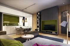Combination pink and green color for your apartment design... | visit : roohome.com  #apartment #decoration #awesome #amazed #fabulous #interiordesign #creativedesign #gorgeous