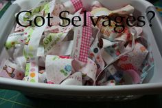 selvage quilting tutorial