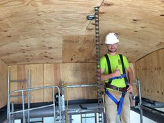 David Installing a Barrel Roll Ceiling