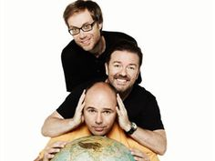 Karl Pilkington, Ricky Gervais and Stephen Merchant. An Idiot Abroad is so funny.