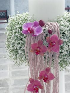 I have 4 different orchids blooming in my dinette window now! Diy Candle Holders, Diy Candles, Arreglos Ikebana, Ringa Linga, Gypsophila Bouquet, Wedding Bouquets, Wedding Flowers, Corporate Flowers, Floral Arrangements