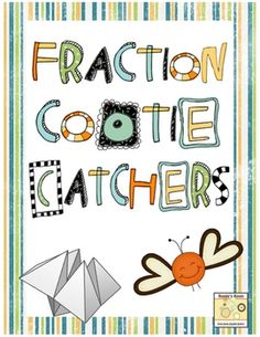 Your students already love them, why not use cootie catchers for a fun math activity to review fractions.  This file includes seven different cooti...