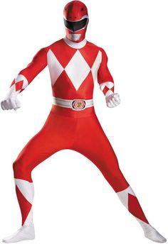 men's costume: red ranger bodysuit