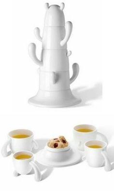 Cactus teacup suite