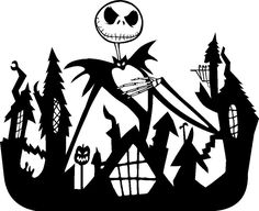 Nightmare Before Christmas Jack Skellington Car Graphic Decal Vinylhood or Side Nightmare Before Christmas Village, Nightmare Before Christmas Drawings, Jack Skellington, Social Media Art, Cameo, Silhouette Art, Christmas Svg, Cricut Creations, Disney Halloween