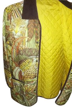Salvatore Ferragamo Print In Browns Gold Yellow Burnt Orange Green Size OS (one size). Free shipping and guaranteed authenticity on Salvatore Ferragamo Print In Browns Gold Yellow Burnt Orange Green Size OS (one size)A rare find.............Ferragamo Vintage at his b...