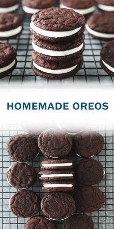 Kinda like a moon pie / whoopie pie Cookie Desserts, Sweet Desserts, Easy Desserts, Cookie Recipes, Delicious Desserts, Yummy Food, Best Dessert Recipes, Desert Recipes, Sweet Recipes