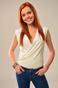 Mary Havranová Redheads, Celebration, Mary, Celebrity, V Neck, Women's Fashion, Woman, Girls, Tops