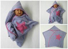 Strampelsäcke - star fleece baby wrap stern schlafsack pucktuch - ein Designerstück von bighead5005 bei DaWanda
