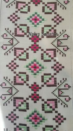 Hardanger Embroidery, Bargello, Bohemian Rug, Decor, Embroidered Towels, Punto De Cruz, Dots, Home, Dressmaking