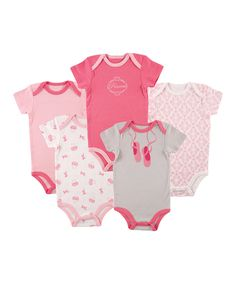 Look what I found on #zulily! Luvable Friends Pink Ballet Slippers Bodysuit Set by Luvable Friends #zulilyfinds